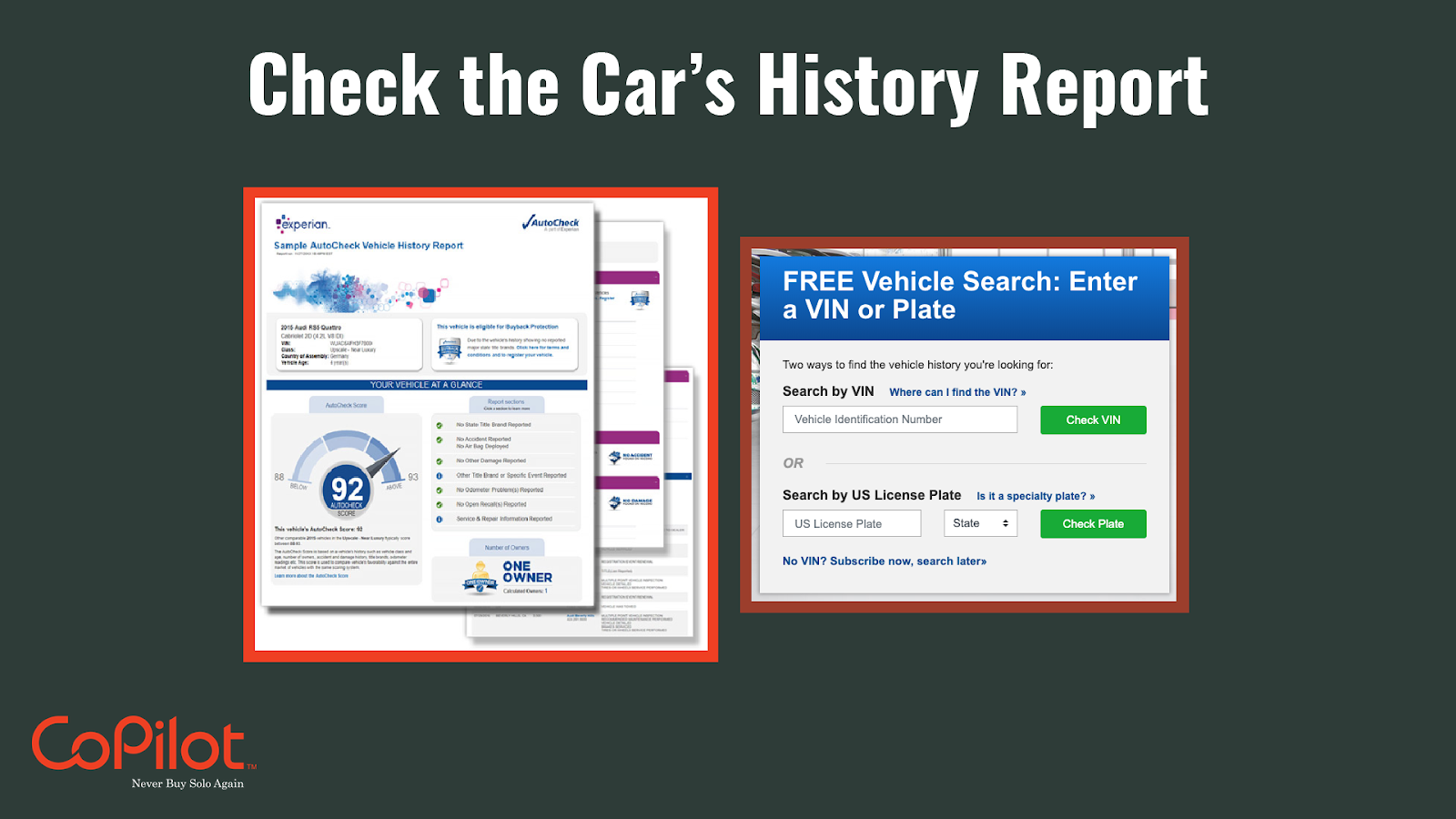 how to check your car history report