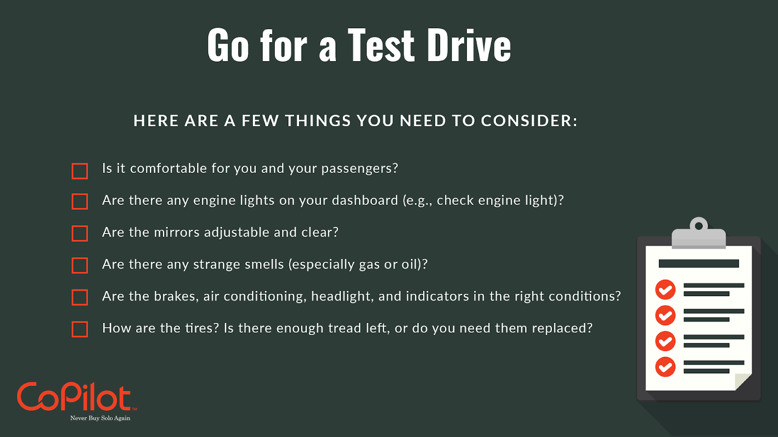 what you should do when you test drive a car