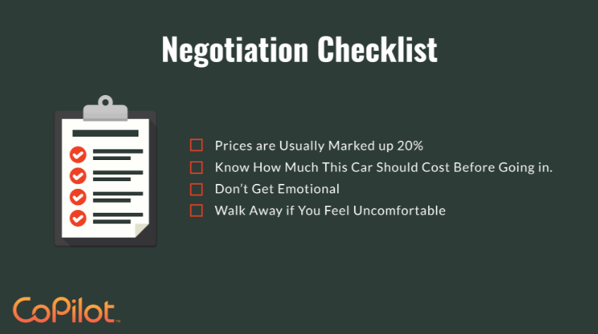 car negotiation checklist