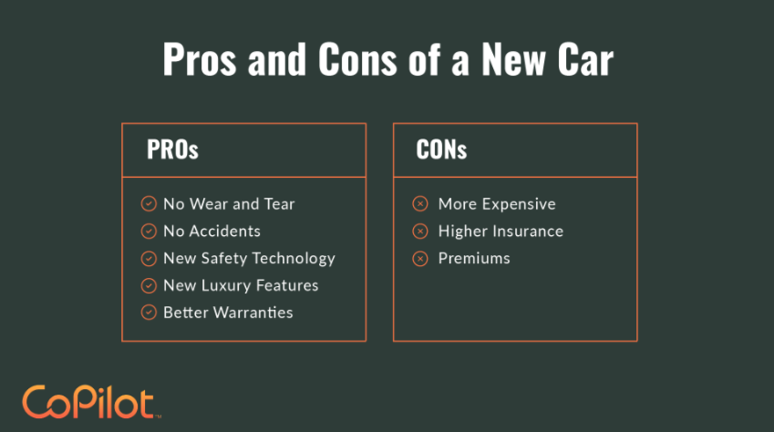 pros and cons of a new car