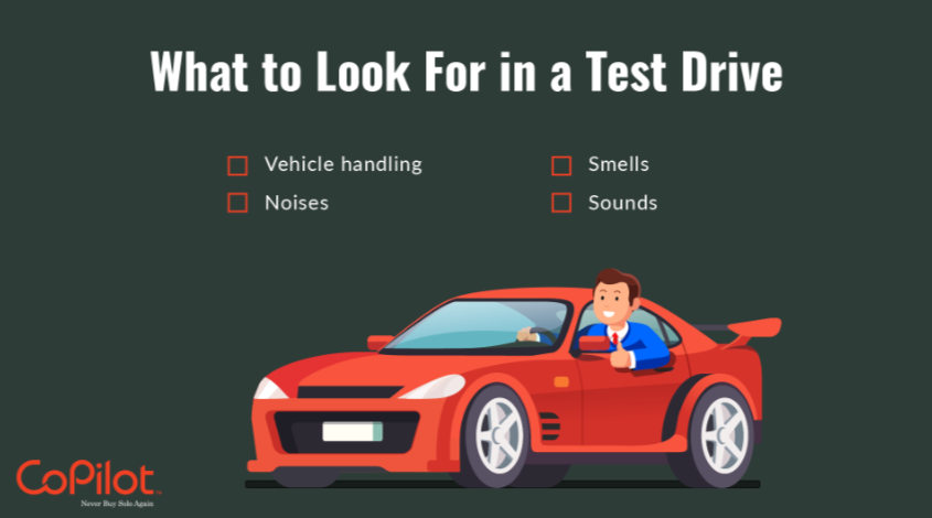 what to focus on during a car test drive